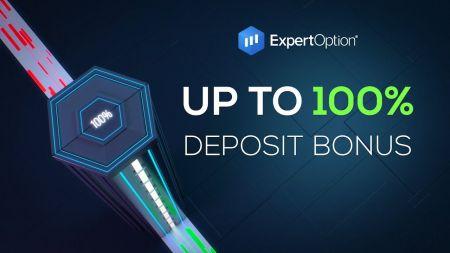 ExpertOption Willkommensaktion - 100% Einzahlungsbonus bis zu $500